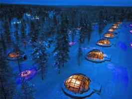 《北欧极地三国10天-入住限量凯洛穹顶玻璃冰屋极光套房》